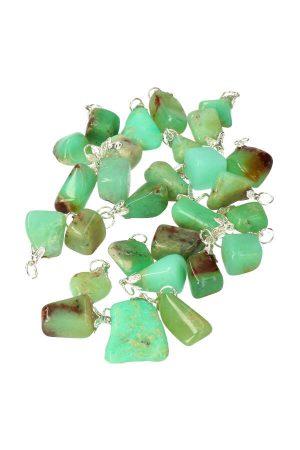 Chrysopraas hanger, edelsteen hanger, edelstenen, chrysoprase, pendant, ketting, kopen