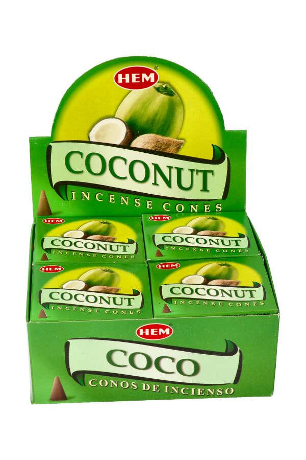 Coconut (Kokosnoot) kegel wierook , HEM