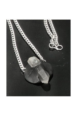 Tibetaanse klei met Bergkristal pentagram hanger