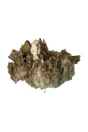 Epidoot kristal ruw, mineraal, mineralen, epidote