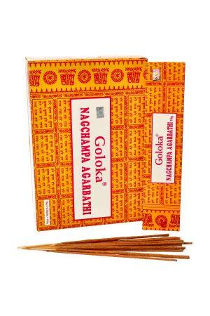 Goloka Nagchampa Agarbathi wierook, 15 gram, incense, kopen, natuurlijke wierook