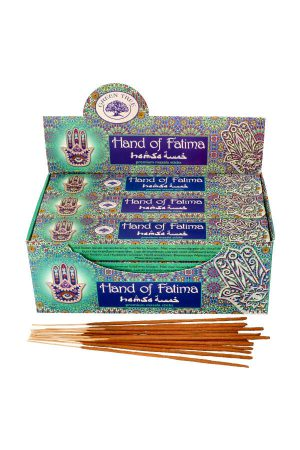 Green Tree Hand of Fatima wierook, 15 gram, green tree incense, kopen, wierook, stokjes