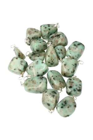 Kiwi Jaspis steen hanger, kiwi jasper pendant, kopen, edelsteen, edelstenen