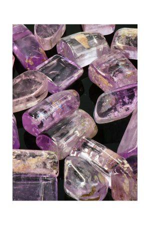 top kwaliteit hand gepolijste kunziet edelstenen uit Afghanistan ook wel trommelstenen
