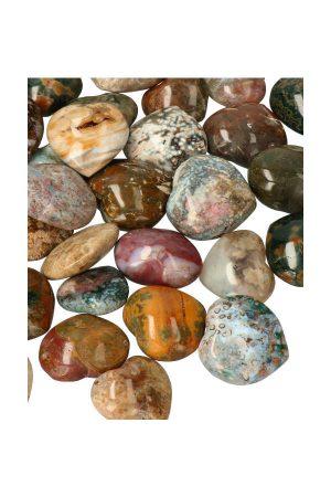 Oceaan Jaspis hartje, Madagaskar, ocean jasper hearts, gepolijst, kopen, edelsteen hart