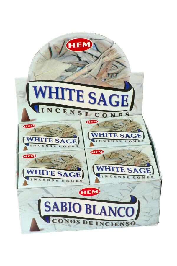 White Sage (witte salie) kegel wierook, HEM