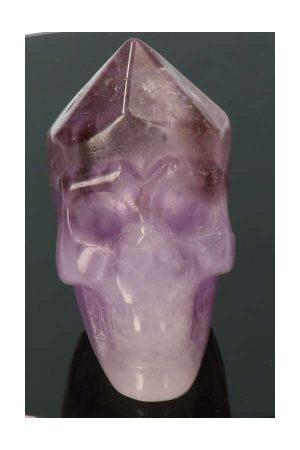 Amethist punt kristallen schedel, amethist schedel, amethist kristallen schedel, amethyst crystal skull, kopen, realistisch, Amethist punt kristallen schedel, 7 cm x 6 cm x 4.5 cm, 236 gram