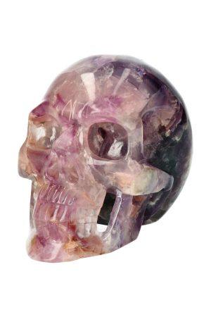 Fluoriet realistische kristallen schedel, holle kaak, realistic crystal skull, kopen, fluoriet schedel, fluorite