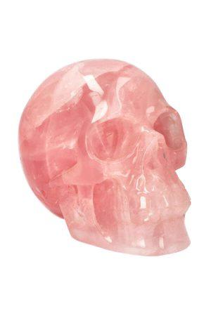 rozenkwarts kristallen schedel, edelsteen kristallen schedel, crystal skull, rosequartz, realistische kristallen schedel, groot, kopen