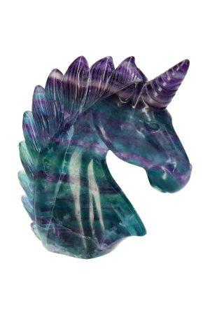 Fluoriet edelsteen eenhoorn, fluorite crystal unicorn, kopen, edelsteen eenhoorn, kristallen eenhoorn
