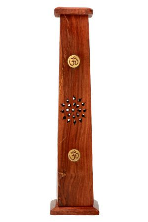 Wierook toren antiek hout Yin Yang, 30 cm