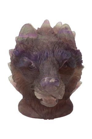fluoriet wolf, edelsteen wolvenkop, fluorite wolf, fluorite wulf, kopen, edelsteen wolf, hoofd,