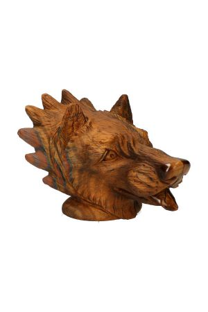 tijgeroog wolf, tiger eye wulf, tiger eye wolf, kopen, edelsteen wolf, hoofd, edelstenen wolvenkop