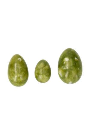 Jade Yoni ei set van 3 Large Medium en Small met of zonder gaatjes