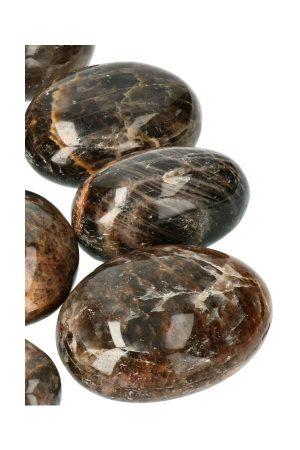 zwarte maansteen gepolijste stenen, zwarte maansteen trommelsteen, polished black moonstone, lillith, lilith, kopen, edelsteen