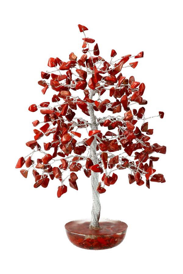 Rode Jaspis edelsteenboom, 20 cm