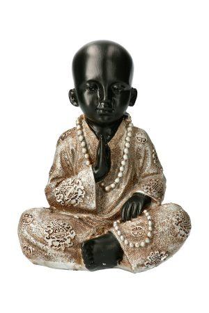 monnik met ketting boeddha beeld van polystone