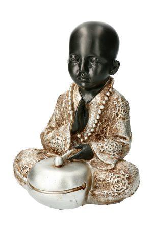 monnik met bel boeddha beeld van polystone