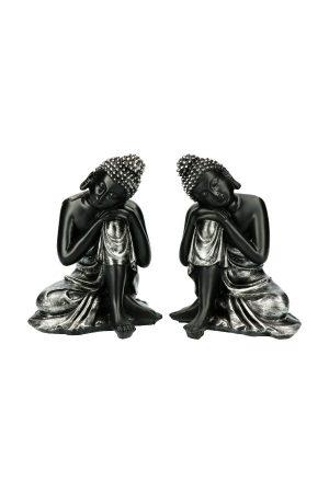 Mediterende boeddha beelden van polsystone