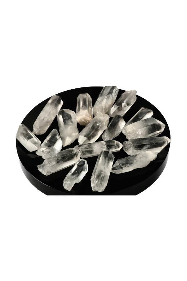 Mooie kwaliteit Bergkristal ruwe punten Vindplaats Brazilië