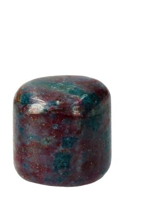 Robijn in Kyaniet gepolijste steen mooi handgepolijst