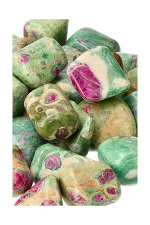 Robijn in Fuchsiet trommel stenen uit India 2.5 a 3 cm ook wel Anyoliet genoemd vaak verward met Robijn in Fuchsiet
