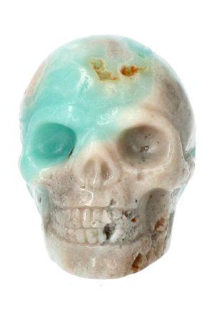 Amazoniet kristallen schedel, 5 cm