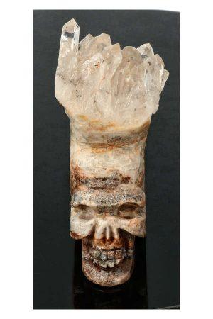 Bergkristal punten kristallen schedel