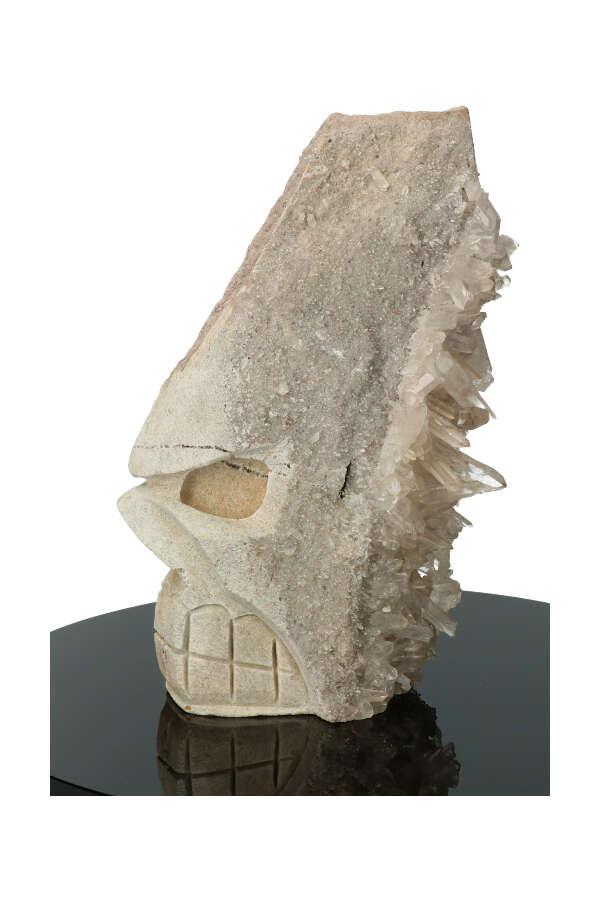 Bergkristal Halfling cluster punten kristallen schedel