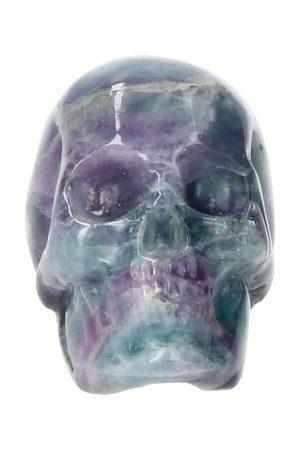 Regenboog Fluoriet kristallen schedel, 5 cm