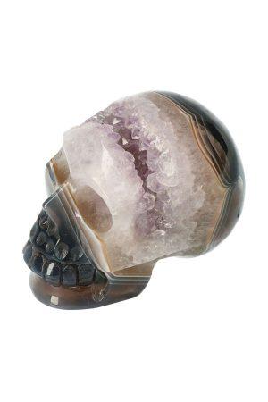 Amethist met Agaat geode kristallen schedel