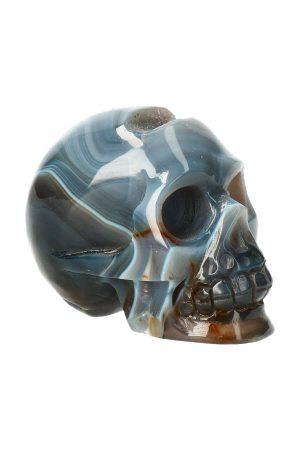 Chalcedoon geode kristallen schedel