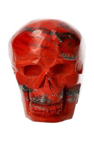 Rode Jaspis kristallen schedel