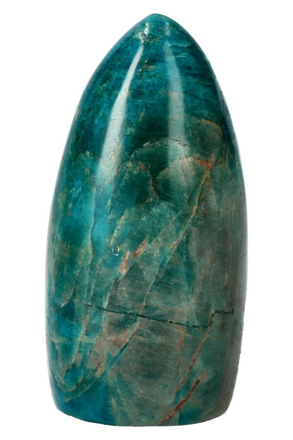 Apatiet sculptuur vrije vorm edelsteen