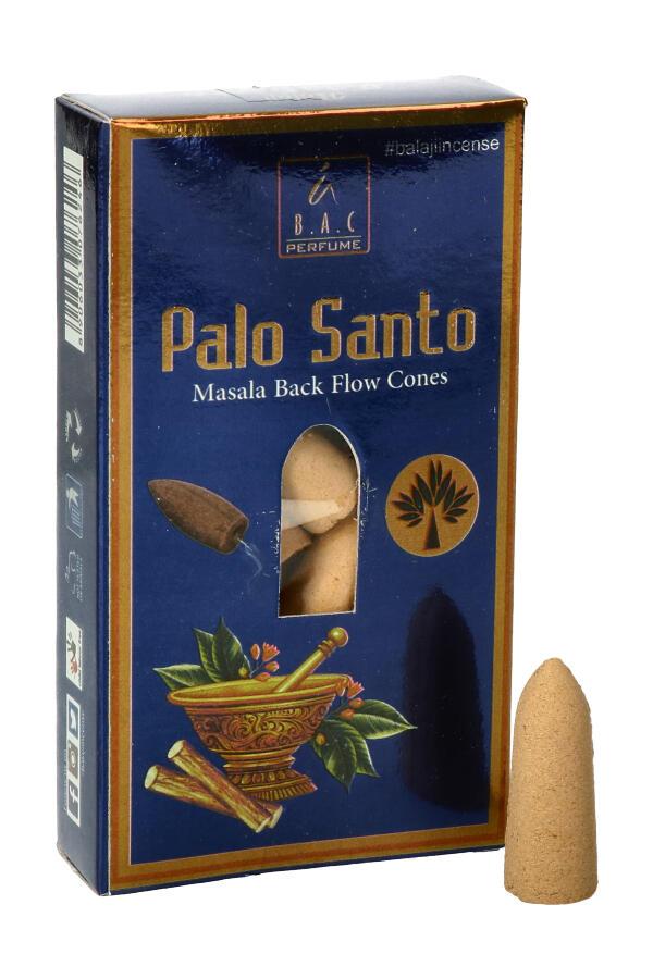 Balaji Masala Back Flow Cones Palo Santo