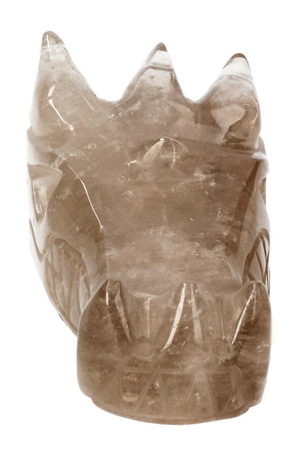 Rookkwarts kristallen drakenschedel