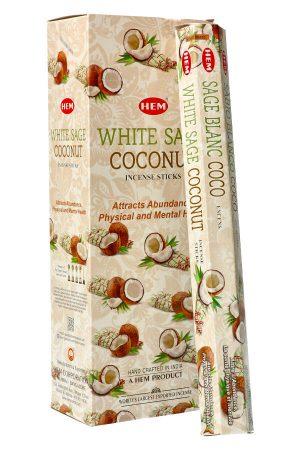 White Sage Coconut (Witte Salie met Kokosnoot) wierook HEM