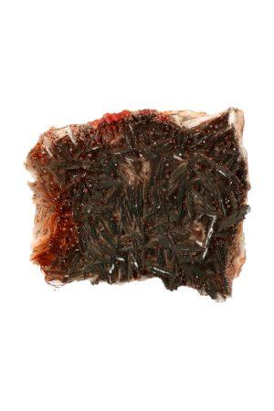 Vanadiniet op Bariet met hematiet ruw Mibladen Marokko