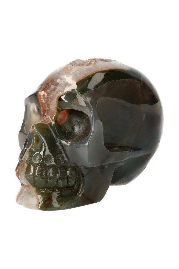 Chloriet fantoom met Aardbei kwarts geode kristallen schedel, elven energie