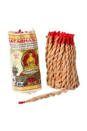 Touw Wierook Amitabha Buddha uit Nepal ook wel draad wierook of rope incense genoemd