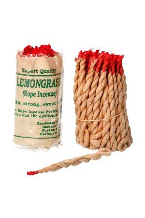 Touw Wierook Lemon Grass (Citroen Gras) ook wel draad wierook of rope incense