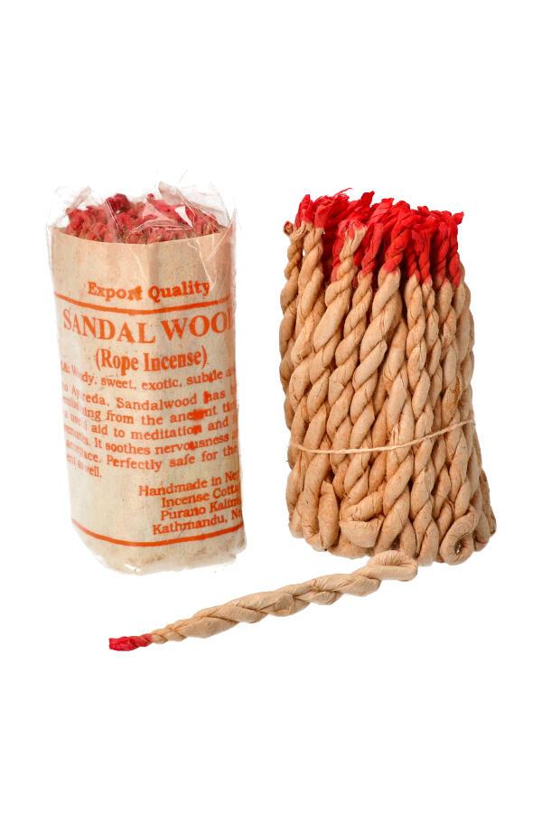 Touw Wierook Sandalwood (Sandelhout) ook wel draad wierook of rope incense genoemd