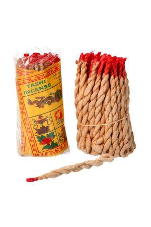 Touw Wierook Tashi uit Nepal ook wel draad wierook of rope incense genoemd.