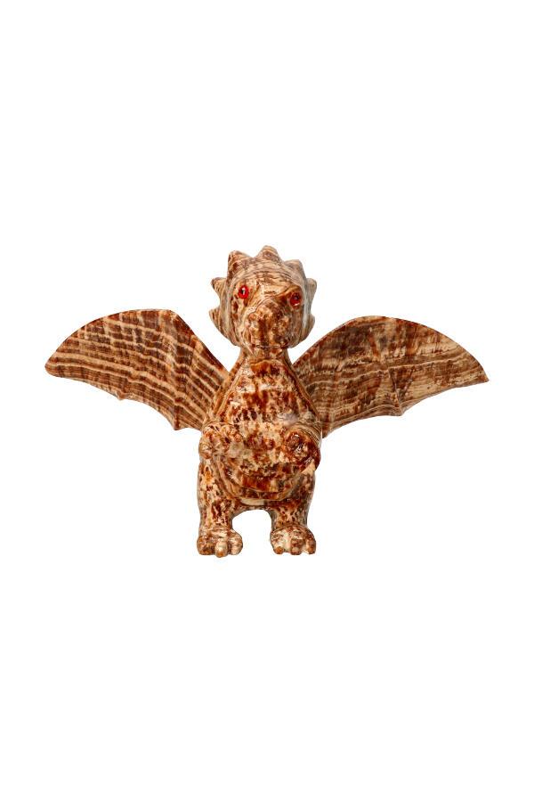 Aragoniet edelsteen draak