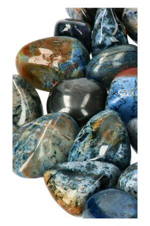 Dumortieriet stenen gepolijst ook wel trommelstenen en knuffelstenen