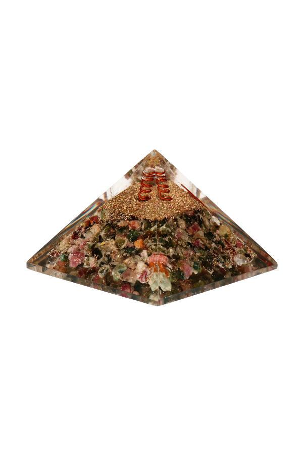 Multi kleur Toermalijn orgoniet piramide