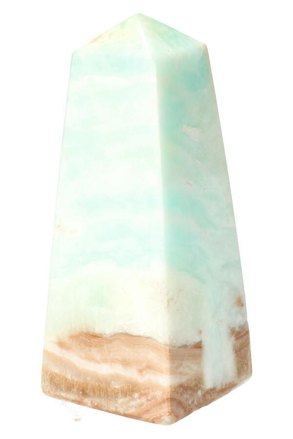 Blauwe Aragoniet obelisk punt