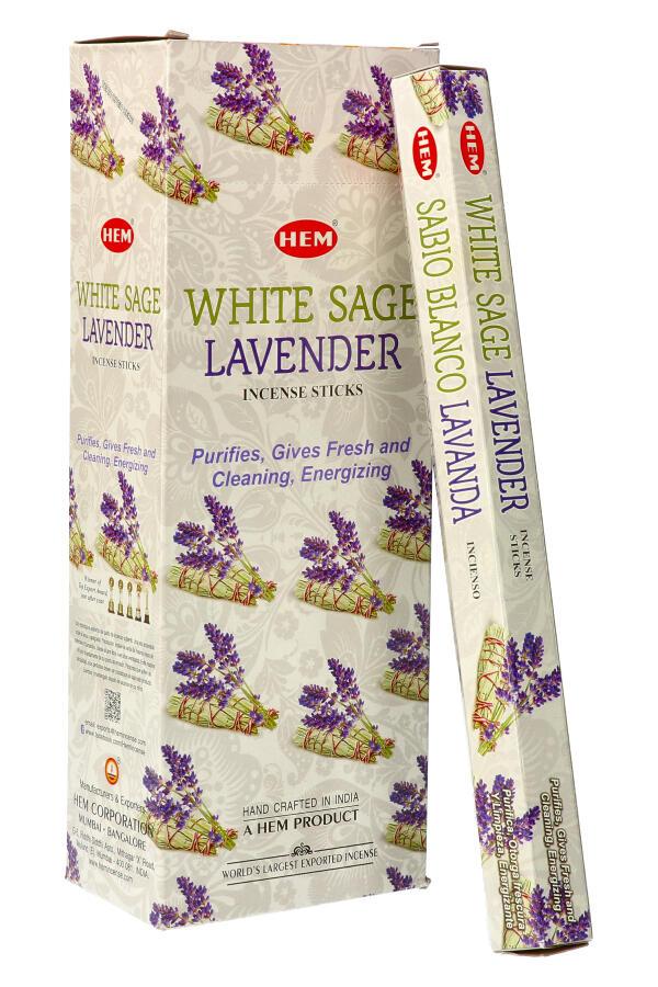 White Sage Lavender (Witte Salie met Lavendel) wierook HEM