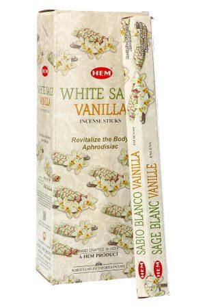 White Sage Vanilla (Witte Salie met Vanille) wierook HEM