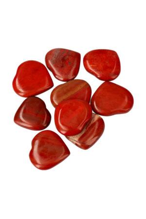 Rode Jaspis hartjes 3.5 cm